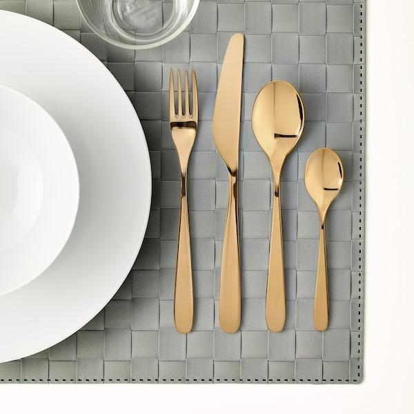 TILLAGD 24-piece cutlery set, brass-colour