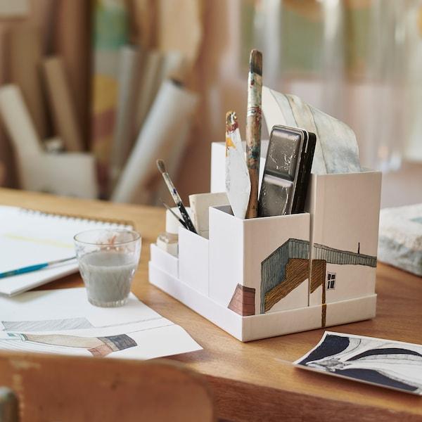 TJENA desk organiser white 17.5 cm 25 cm 17 cm