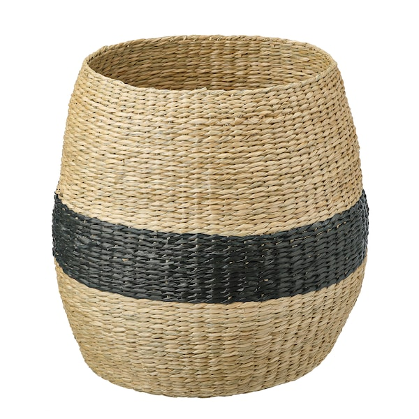TJILLEVIPS basket seagrass/black 40 cm 40 cm 20 cm