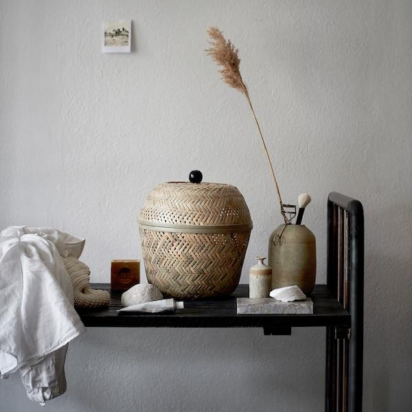 TJILLEVIPS basket bamboo 28 cm 25 cm