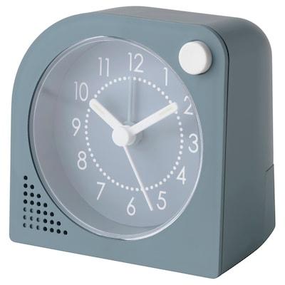 TJINGA Alarm clock, turquoise, 5x8x6 cm