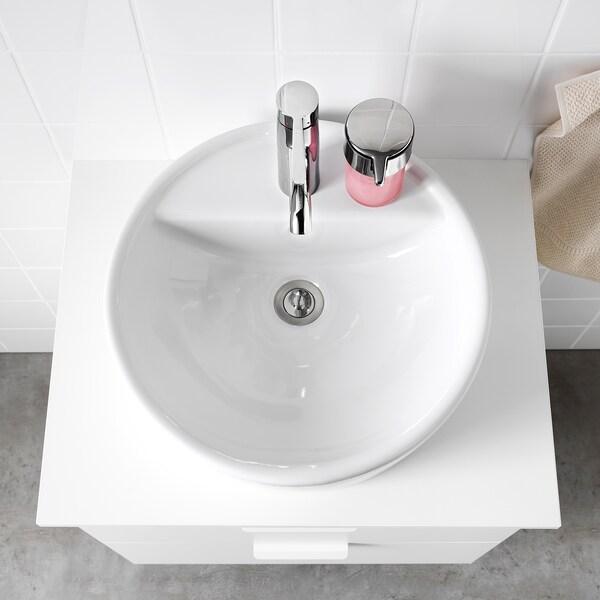 TÖRNVIKEN countertop wash-basin white 14.0 cm 45 cm