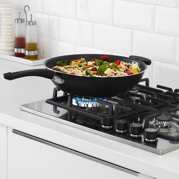 TOLERANT wok black 12 cm 33 cm