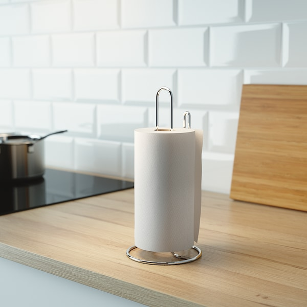 TORKAD Kitchen roll holder, silver-colour