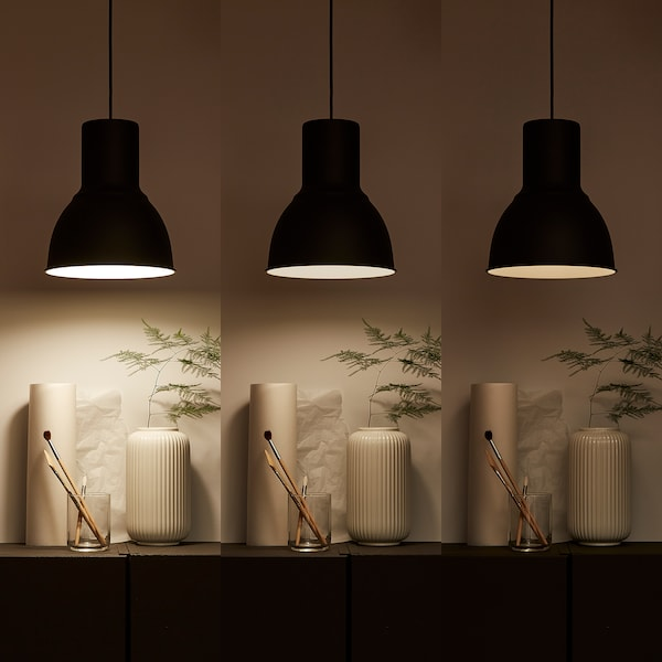TRÅDFRI LED bulb E27 806 lumen, wireless dimmable warm white/globe opal white