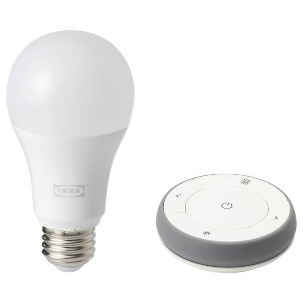 TRÅDFRI Remote control kit, white spectrum, E27