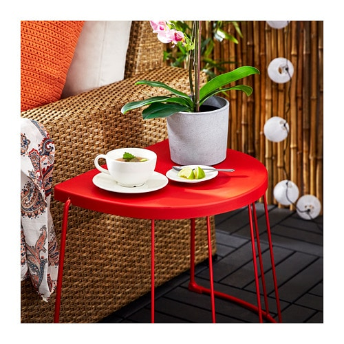 Remarkable Tranaro Stool Side Table In Outdoor Red Best Image Libraries Sapebelowcountryjoecom