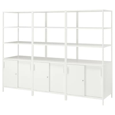 TROTTEN Cabinet combination, white, 240x180 cm