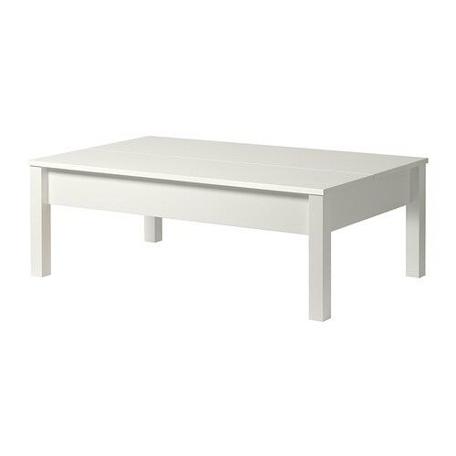 Trulstorp coffee table white ikea - Table basse plateau relevable conforama ...