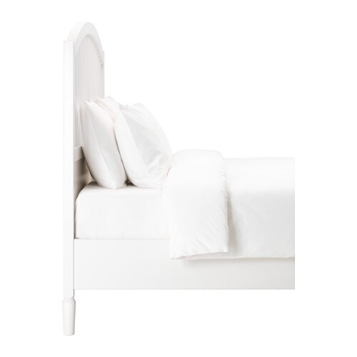 TYSSEDAL Bed frame IKEA Adjustable bed sides allow you to use mattresses of different thicknesses.