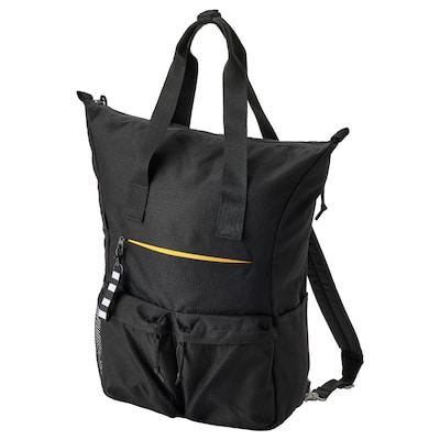 VÄRLDENS Backpack, black, 31x15x49 cm/26 l