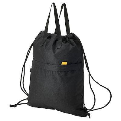 VÄRLDENS Gym bag, black, 38x49 cm/15 l
