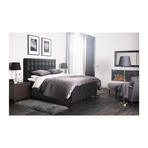 Boxspringbett ikea 180x200  VALLAVIK Divan bed - Hyllestad firm/Tustna grey, 180x200 cm ...