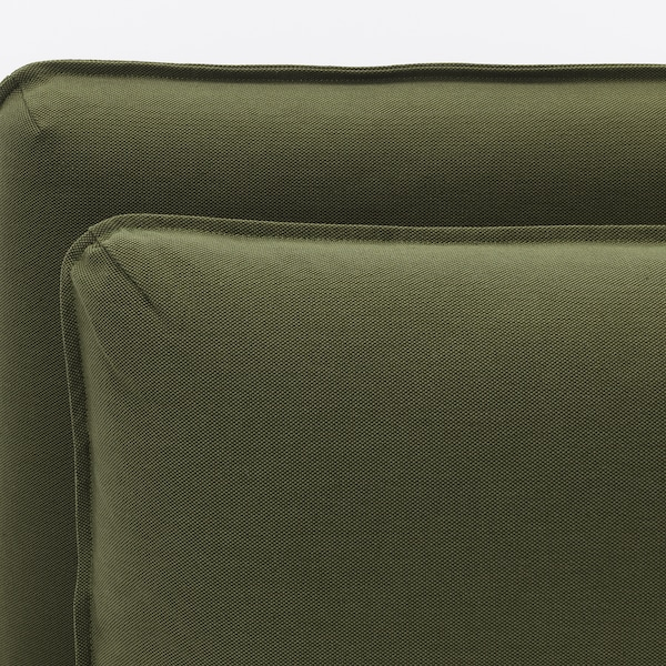 VALLENTUNA seat module with backrest Orrsta olive-green 113 cm 93 cm 84 cm 80 cm 45 cm