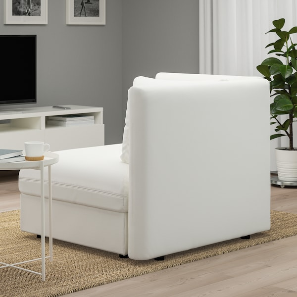 VALLENTUNA seat module with backrest Murum white 113 cm 93 cm 84 cm 80 cm 45 cm