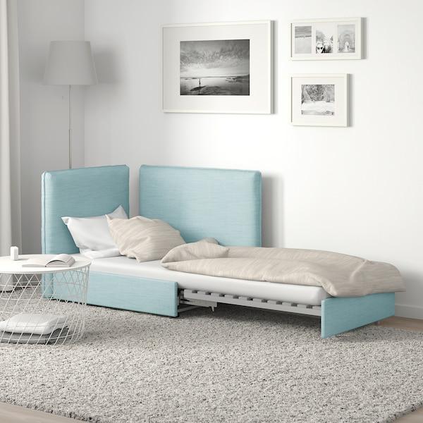 VALLENTUNA sofa-bed module with backrests Hillared light blue 113 cm 93 cm 84 cm 45 cm 80 cm 200 cm
