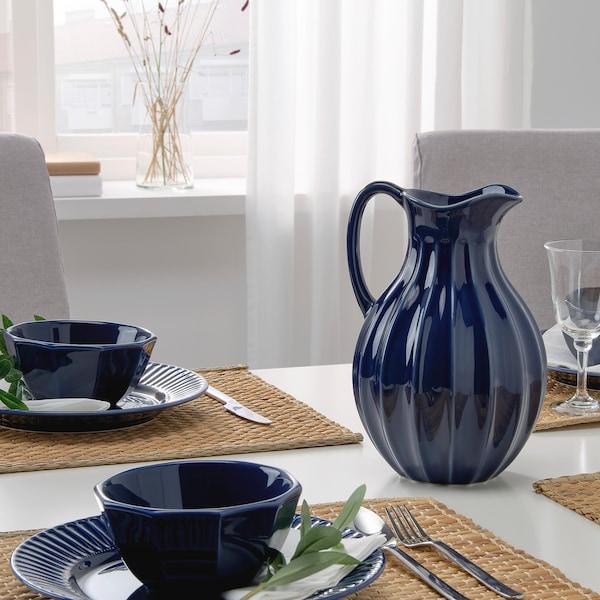 VANLIGEN vase/jug blue 26 cm
