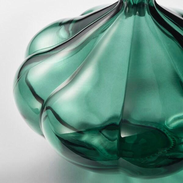 VANLIGEN vase dark green 11 cm
