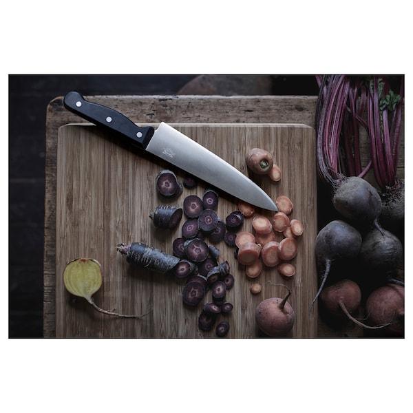 VARDAGEN Cook's knife, dark grey, 20 cm