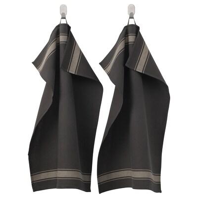VARDAGEN tea towel black 70 cm 50 cm 2 pack