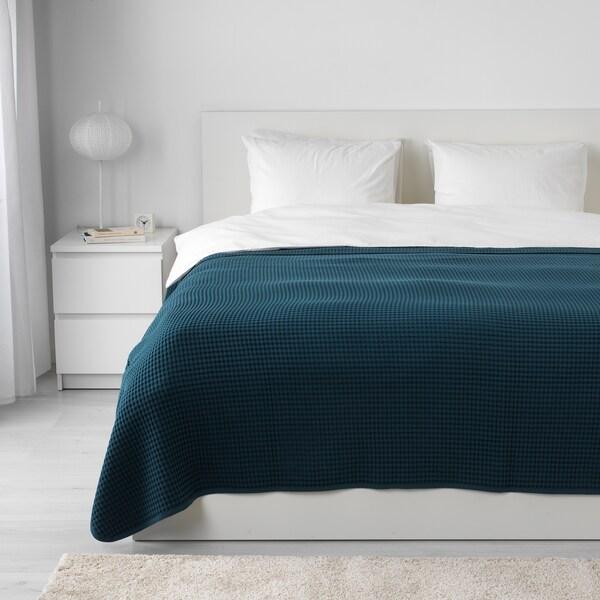 VÅRELD bedspread dark blue 250 cm 230 cm