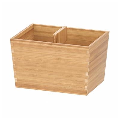 VARIERA box with handle bamboo 24 cm 17 cm 16 cm