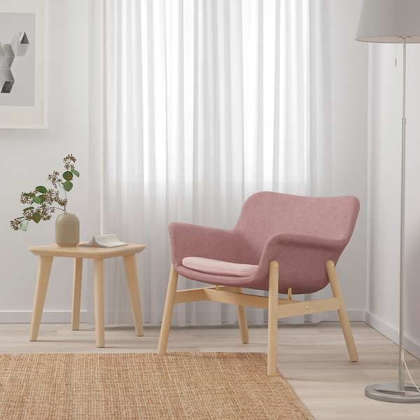 VEDBO armchair Gunnared light brown-pink 75 cm 73 cm 65 cm 24 cm 20 cm 45 cm 48 cm 44 cm
