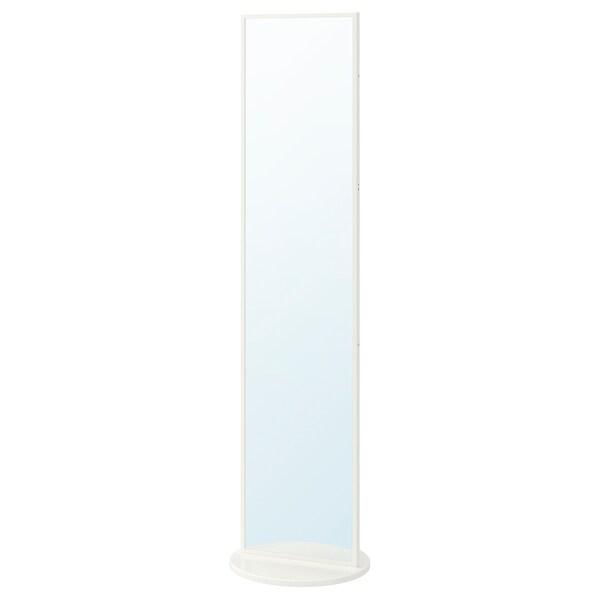VENNESLA Standing mirror, white, 45x178 cm