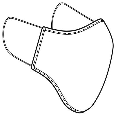 VETSKAP Reusable community mask, non-med, light grey