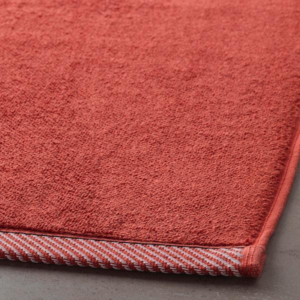 VIKFJÄRD bath mat red 80 cm 50 cm 0.40 m² 1050 g/m²
