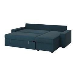 Bed With Blue Dark Sofa Chaise Vilasund LongueHillared hrxBdQCts