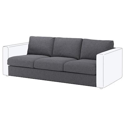 VIMLE 3-seat section Gunnared medium grey 80 cm 66 cm 211 cm 98 cm 4 cm 211 cm 55 cm 45 cm