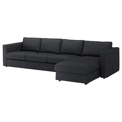 VIMLE 4-seat sofa with chaise longue/Tallmyra black/grey 83 cm 68 cm 164 cm 322 cm 98 cm 125 cm 6 cm 15 cm 68 cm 292 cm 55 cm 48 cm