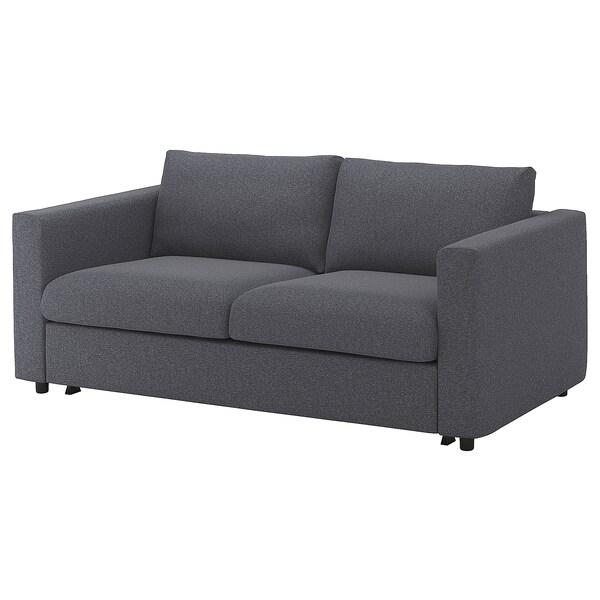 VIMLE Cover for 2-seat sofa-bed, Gunnared medium grey