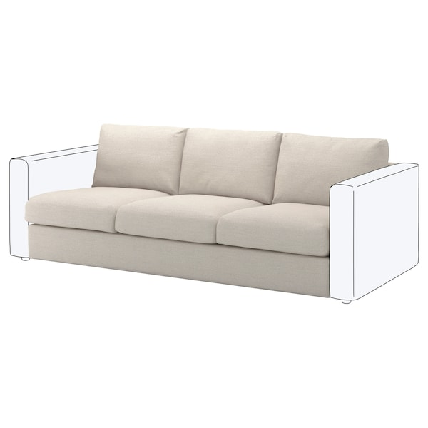 VIMLE cover for 3-seat section Gunnared beige