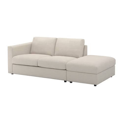 Vimle 3 Seat Sofa With Open End Gunnared Beige Ikea