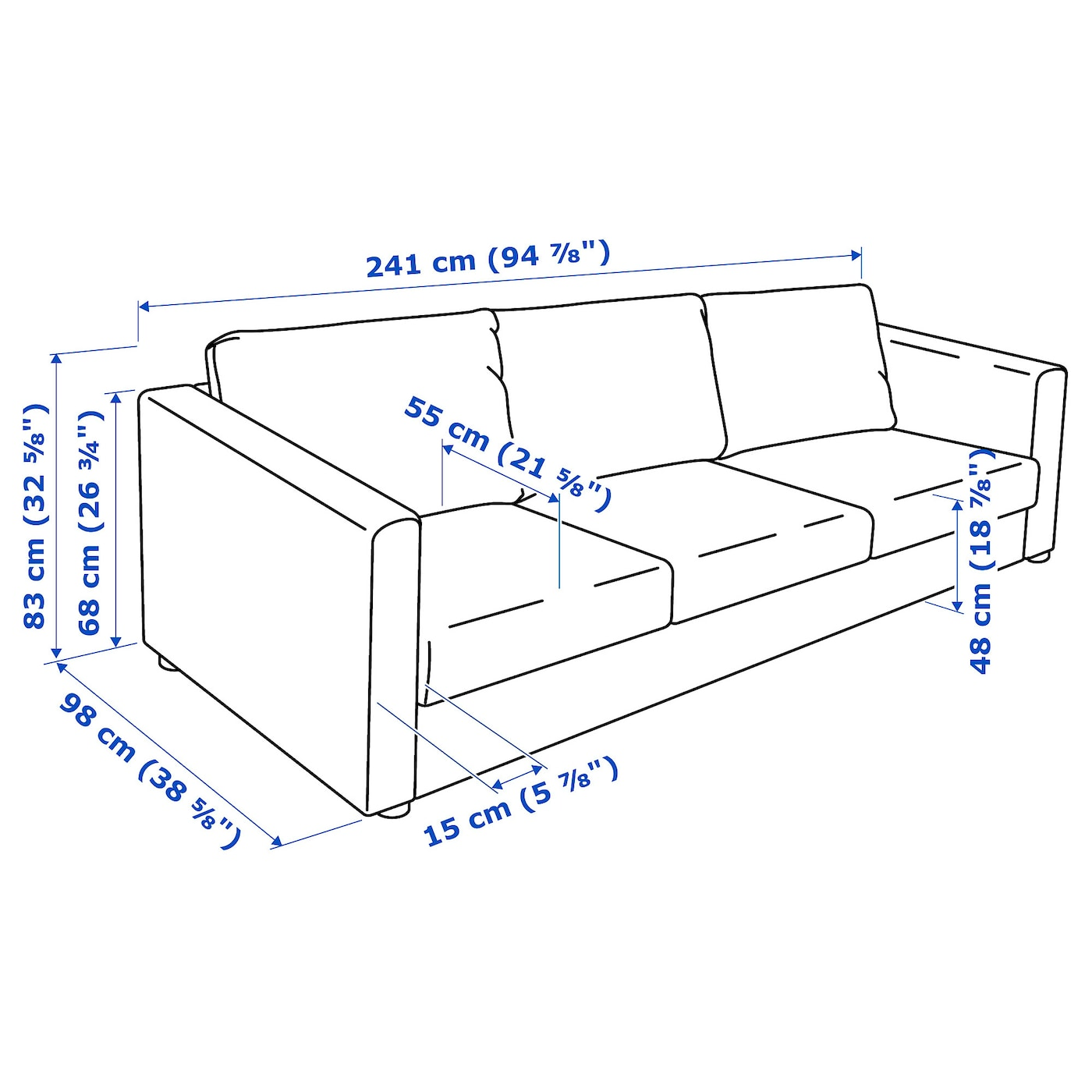 Our Choice of Top 3 Seater Sofa Dimensions Galleries - Home ...