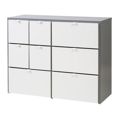 Visthus Chest Of 8 Drawers Grey White