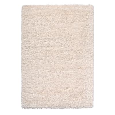 VOLLERSLEV Rug, high pile, white, 133x195 cm