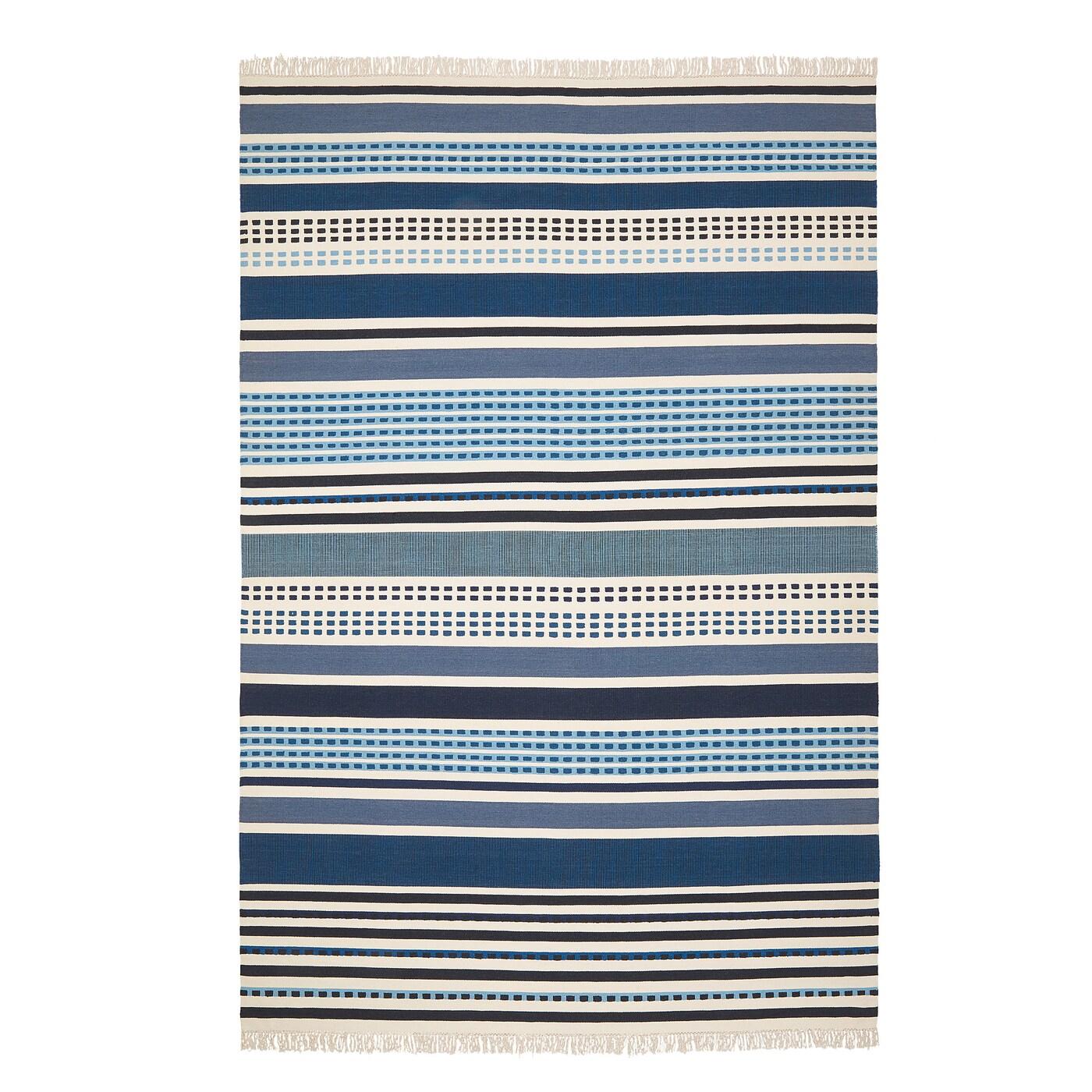 Vonsild Rug Flatwoven Handmade Orted Blue Shades