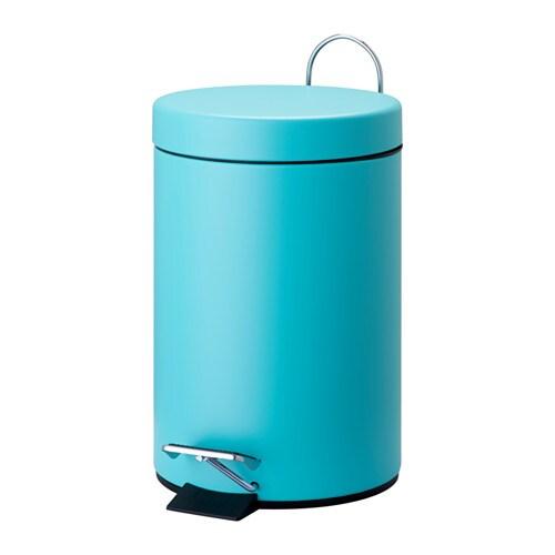Vorgod pedal bin turquoise ikea for Turquoise bathroom bin