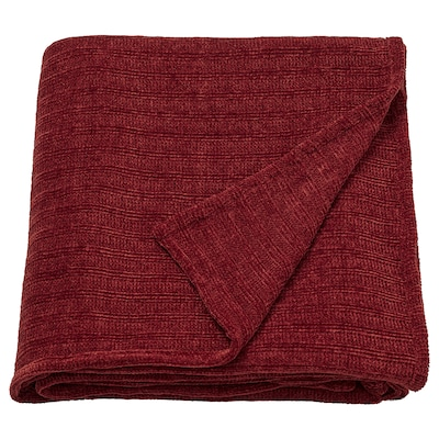 YLVALI Throw, brown-red, 130x170 cm