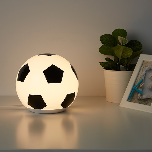 ÄNGARNA Candeeiro LED de mesa, motivo bola futebol