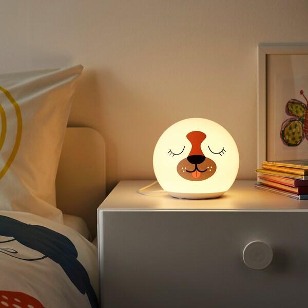 ÄNGARNA Candeeiro LED de mesa, padrão cão