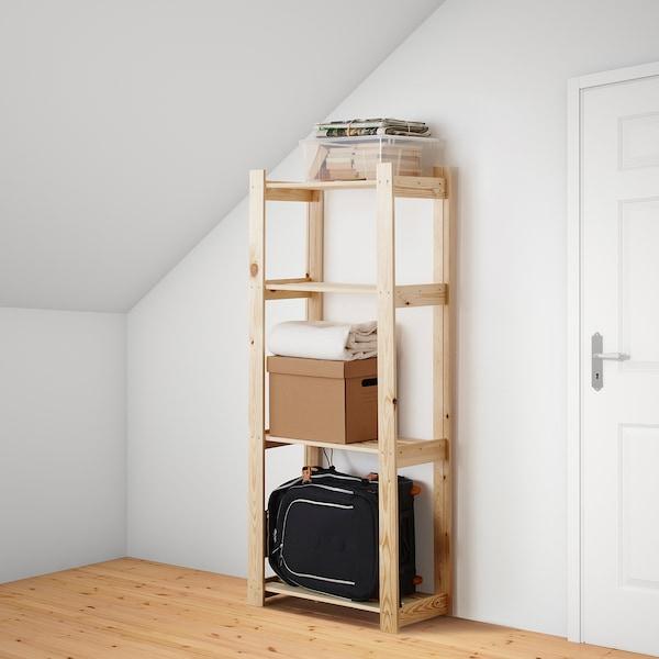 ALBERT Estante, madeira conífera, 64x28x159 cm