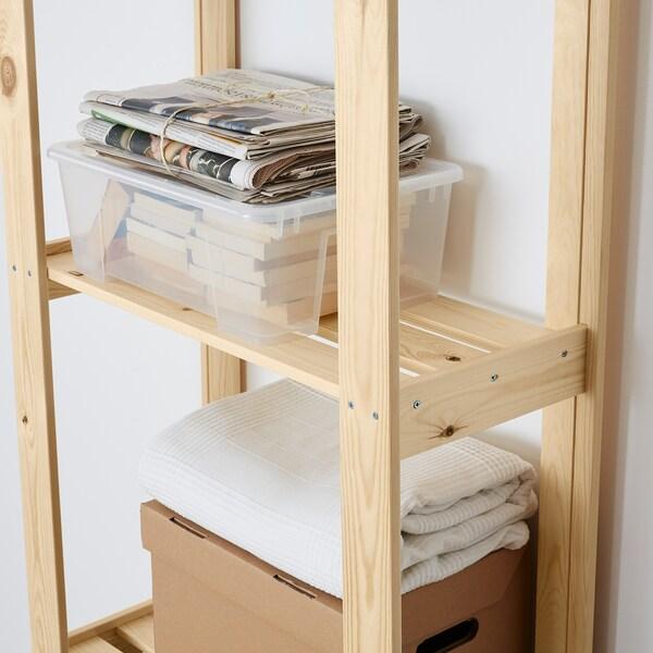ALBERT estante madeira conífera 64 cm 28 cm 159 cm 25 kg