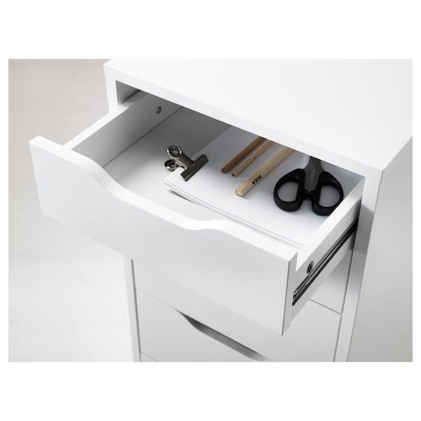 ALEX Bloco de gavetas, branco, 36x70 cm