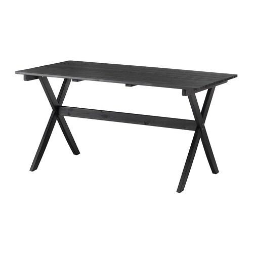 Ngs mesa exterior preto castanho c velatura ikea - Mesas exterior ikea ...