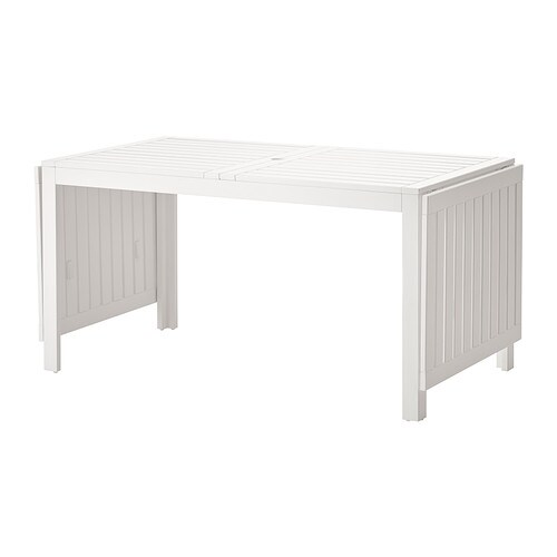Pplar mesa abas rebat veis exterior branco ikea - Mesas exterior ikea ...
