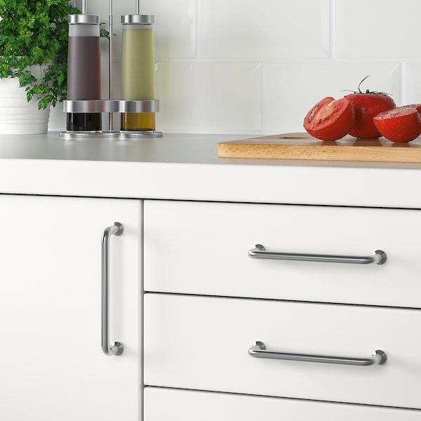 BAGGANÄS Puxador, aço inoxidável, 143 mm